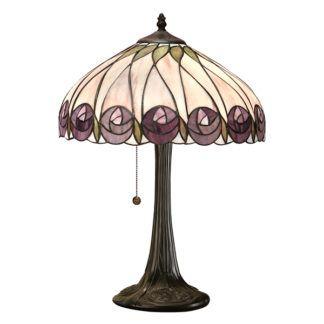 Lampa stołowa Hutchinson - Interiors - szklany klosz