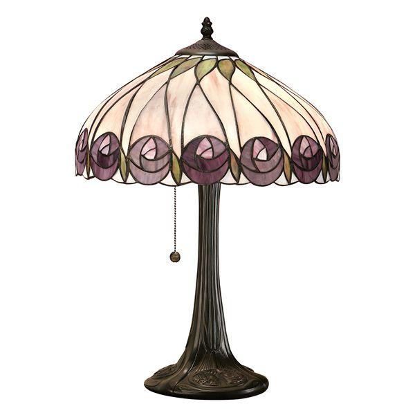 mała lampa stołowa z kwiecistym wzorem