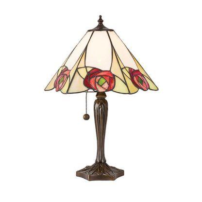 Lampa stołowa Ingram - Interiors - szklany klosz