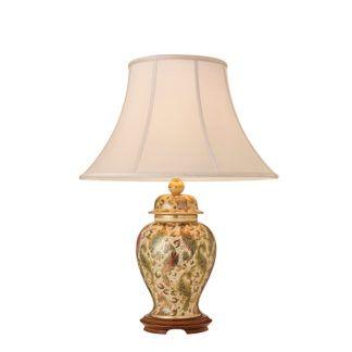 Lampa stołowa Kashmir - Kutani - Interiors - beżowa, złota