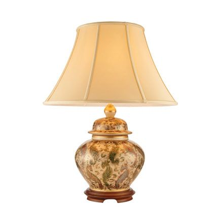 Lampa stołowa Kashmir - Kutani - Interiors - mała, złota