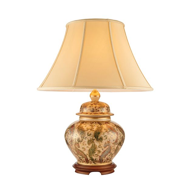 ręcznie malowana lampa stołowa w stylu klasycznym