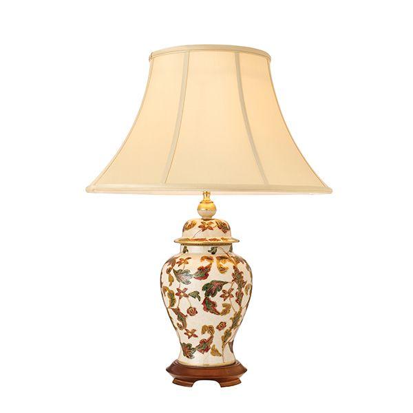 Lampa stołowa Leaf Scroll - Kutani - Interiors - porcelana, drewno