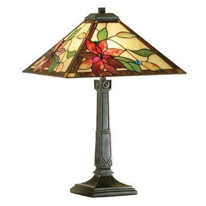 Lampa stołowa Lelani - Interiors - szkło, metal