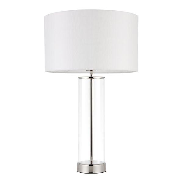 Lampa stołowa Lessina - Endon Lighting - szklana, srebrna