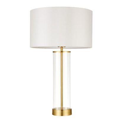 Lampa stołowa Lessina - Endon Lighting - szklana, złota
