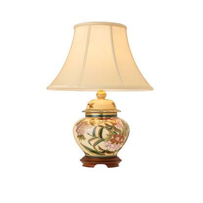 Lampa stołowa Lily - Kutani - Interiors - porcelana, drewno