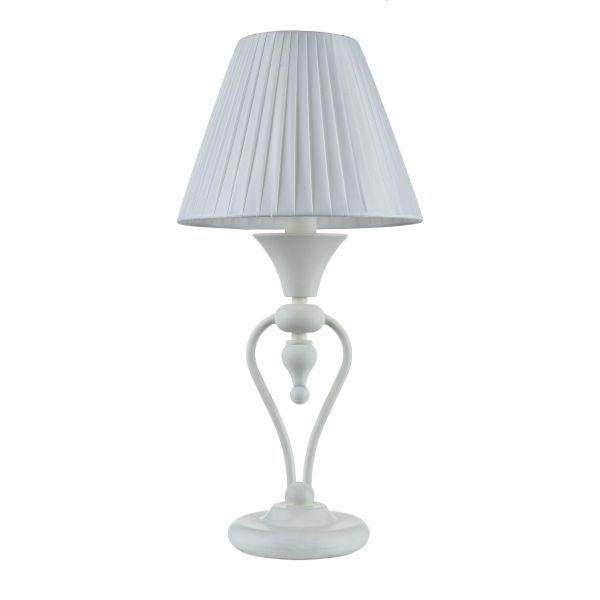 lampa stołowa stojąca cała biała - na biurko i komodę