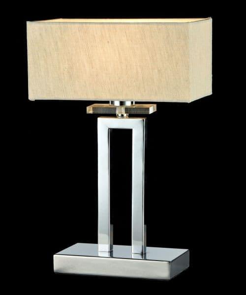 lampy stołowe klasyczne z kwadratowym abażurem