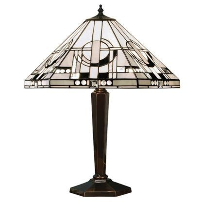Lampa stołowa Metropolitan - Interiors - brązowa podstawa