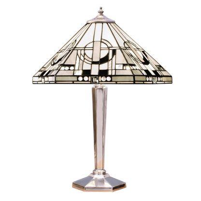 Lampa stołowa Metropolitan - Interiors - srebrna podstawa