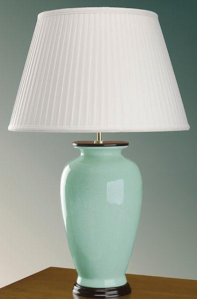 Lampa stołowa w stylu nowojorskim - Mint Chic - ceramiczna