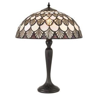 Lampa stołowa Missori - Interiors - brązowa podstawa