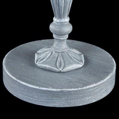 postarzana lampa stołowa szarą farbą