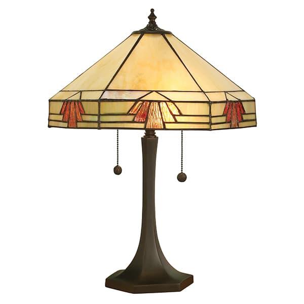 Lampa stołowa Nevada - Interiors - beżowy klosz