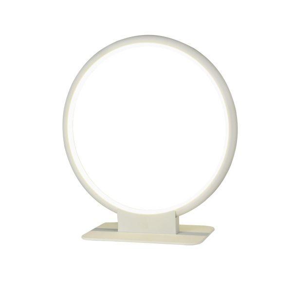 lampa stołowa w kształcie kółka obręczy led