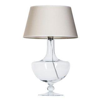 Lampa stołowa Oxford - 4concepts - beżowa, szklana
