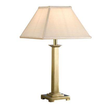 Lampa stołowa Pelham - Interiors - mosiądz, złota