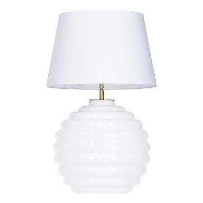 Lampa stołowa Saint Tropez Biała - 4concepts - biała, szklana