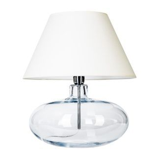 Lampa stołowa Stockholm - 4concepts - biała, szklana