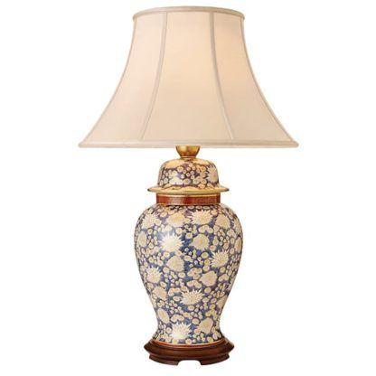 Lampa stołowa White Chrysanthemum - Kutani - Interiors - ceramika