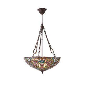 Lampa wisząca Anderson - Interiors - szkło Tiffany