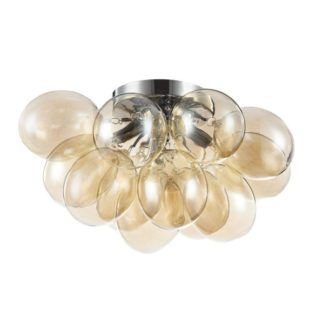 Lampa sufitowa Balbo - Maytoni - szklana, beżowa