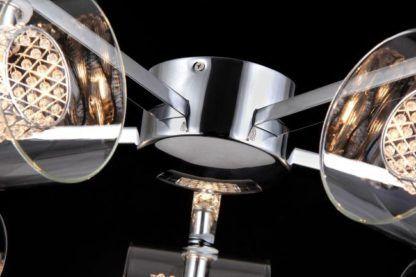 lampa sufitowa chromowana szklana