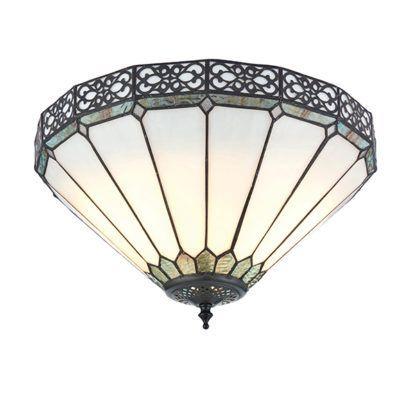 Lampa sufitowa Boleyn - Interiors - szkło witrażowe