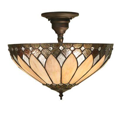 Lampa sufitowa Brooklyn - Interiors - 3 żarówki - brązowa podstawa