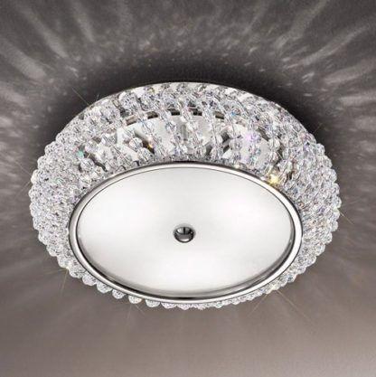Lampa sufitowa - CARLA Pure Crystal - Kolarz - chrom - kryształowa