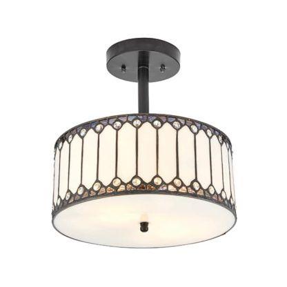 Lampa sufitowa Fargo - Interiors - szklany klosz