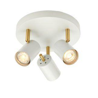 Lampa sufitowa Gull - Endon Lighting - matowa biała, złota
