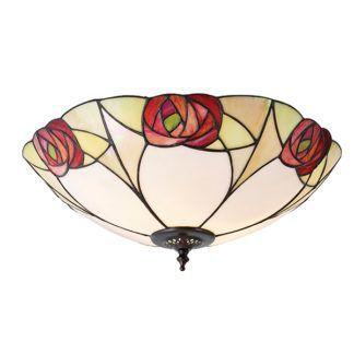 Lampa sufitowa Ingram - Interiors - szkło Tiffany