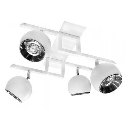 lampa sufitowa podłużna z 4 ruchomymi kloszami