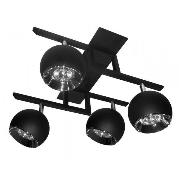 lampa sufitowa na cztery źródła światła w kolorze czarnym