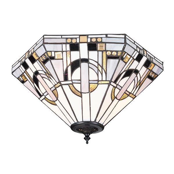 Lampa sufitowa Metropolitan - Interiors - szkło, metal