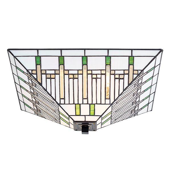 szklany plafon z jasnym geometrycznym wzorem
