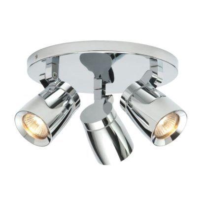 Lampa sufitowa na 3 źródła światła - Knight - Endon Lighting - chrom