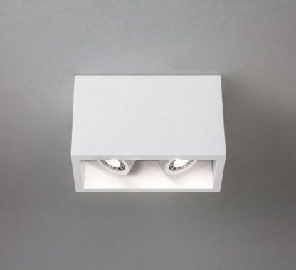 Lampa sufitowa Osca Twin 140 - Astro Lighting - biała, podwójna