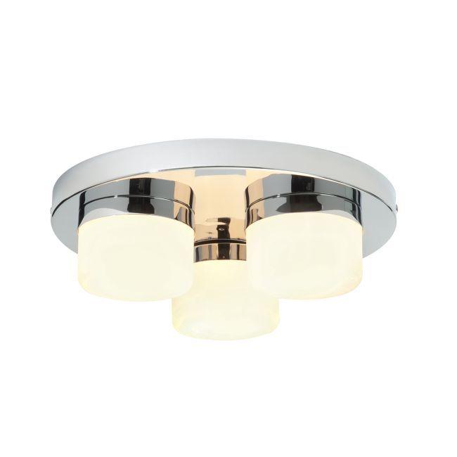 Lampa sufitowa Pure - Endon Lighting - 3 źródła światła - chrom, szkło