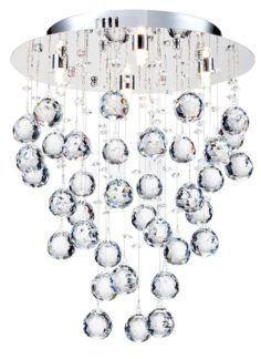 Lampa sufitowa Rockfall 35 - Maytoni - srebrna, kryształki