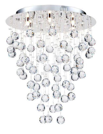 Lampa sufitowa Rockfall 45 - Maytoni - srebrna, kryształki