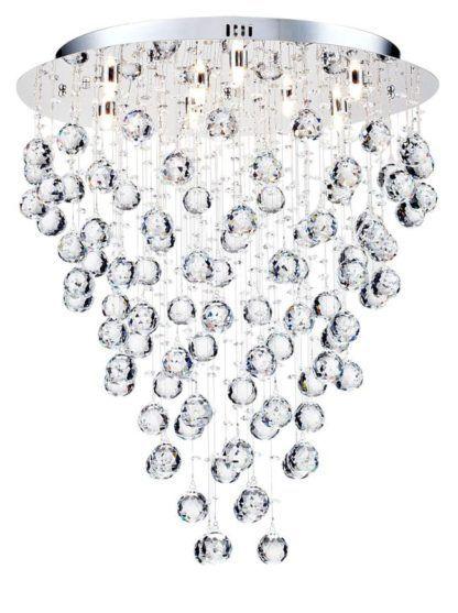 Lampa sufitowa Rockfall 55 - Maytoni - srebrna, kryształki