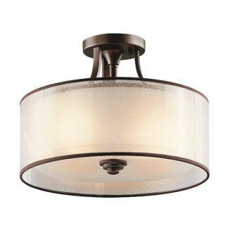 Lampa sufitowa Simple - metalowe wykończenia w kolorze brązu