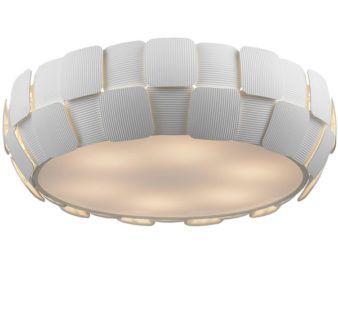Lampa sufitowa - Sole plafon duży - Zuma Line - pcv - biała