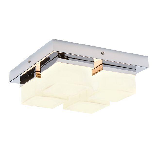 Lampa sufitowa Square - Endon Lighting - szkło, chrom