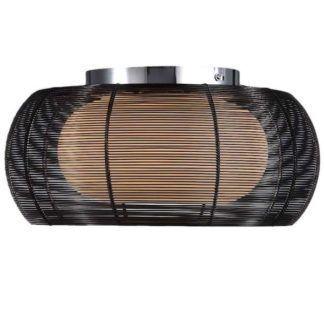Lampa sufitowa - Tango plafon duży - Zuma Line - czarne aluminium, szkło