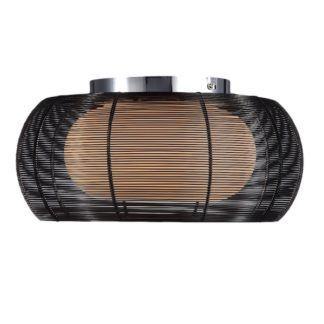 Lampa sufitowa - Tango plafon - Zuma Line - czarne aluminium, szkło