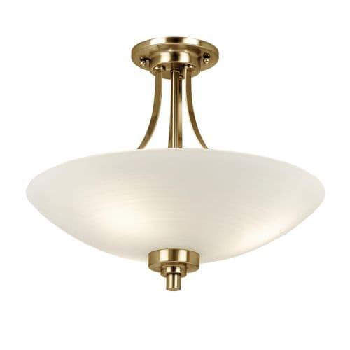 Lampa sufitowa Welles - Endon Lighting - złota, biały klosz